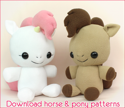 TeacupLion horse and pony plush