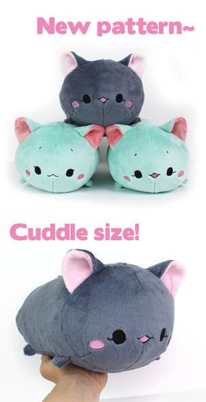 neko roll plush sewing pattern cuddle size