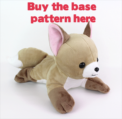 Free plushie sewing pattern: Vulpix tails & hair for Newborn Fox