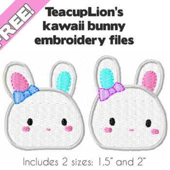 Kawaii bunny embroidery