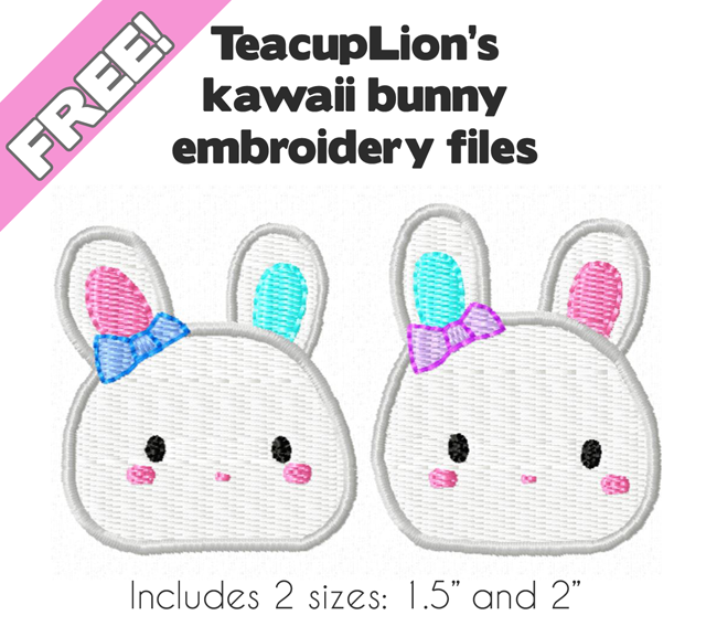 Kawaii bunny embroidery