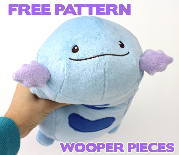 Free Pokemon Plush Sewing Pattern Wooper Pieces