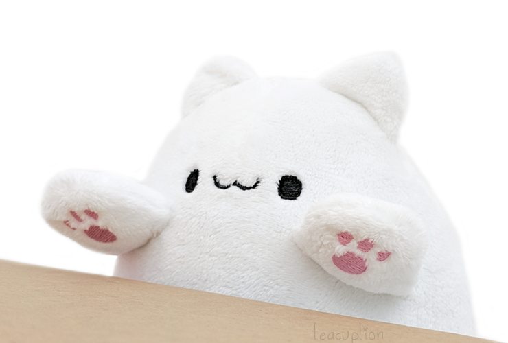 New plushie sewing & embroidery patterns: Bongo Cat!