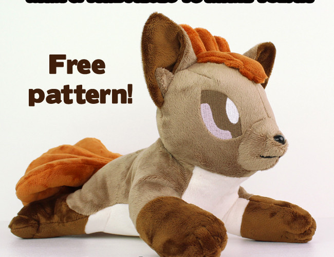 Free plushie sewing pattern: Vulpix tails & hair for Newborn Fox