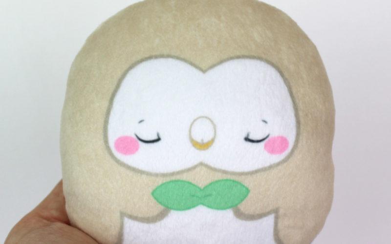 Large beanie plush – Rowlet (sleepy) 4.5″ Made to order