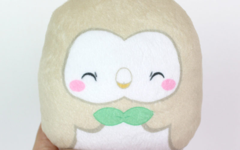 Large beanie plush – Rowlet (happy) 4.5″ Made to order