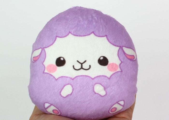 Large beanie plush – Sheep (lavender) 4.25″ Made to order