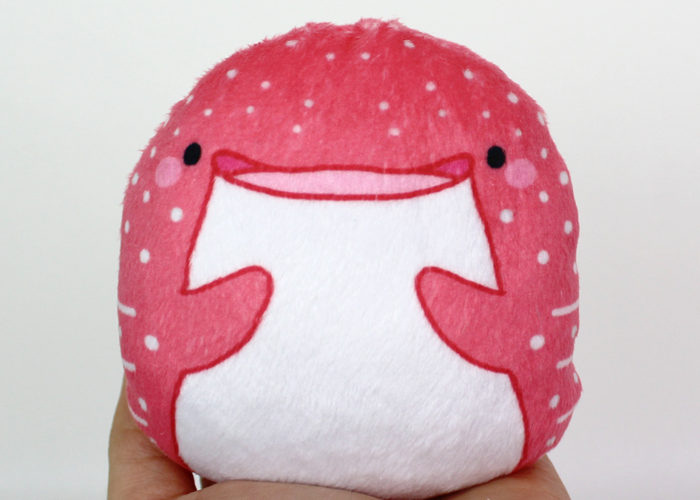 Beanie plush – Strawberry Whale Shark 4″ Made to order