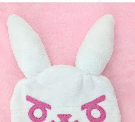 Free sewing pattern: Baby D.va bunny rabbit hat